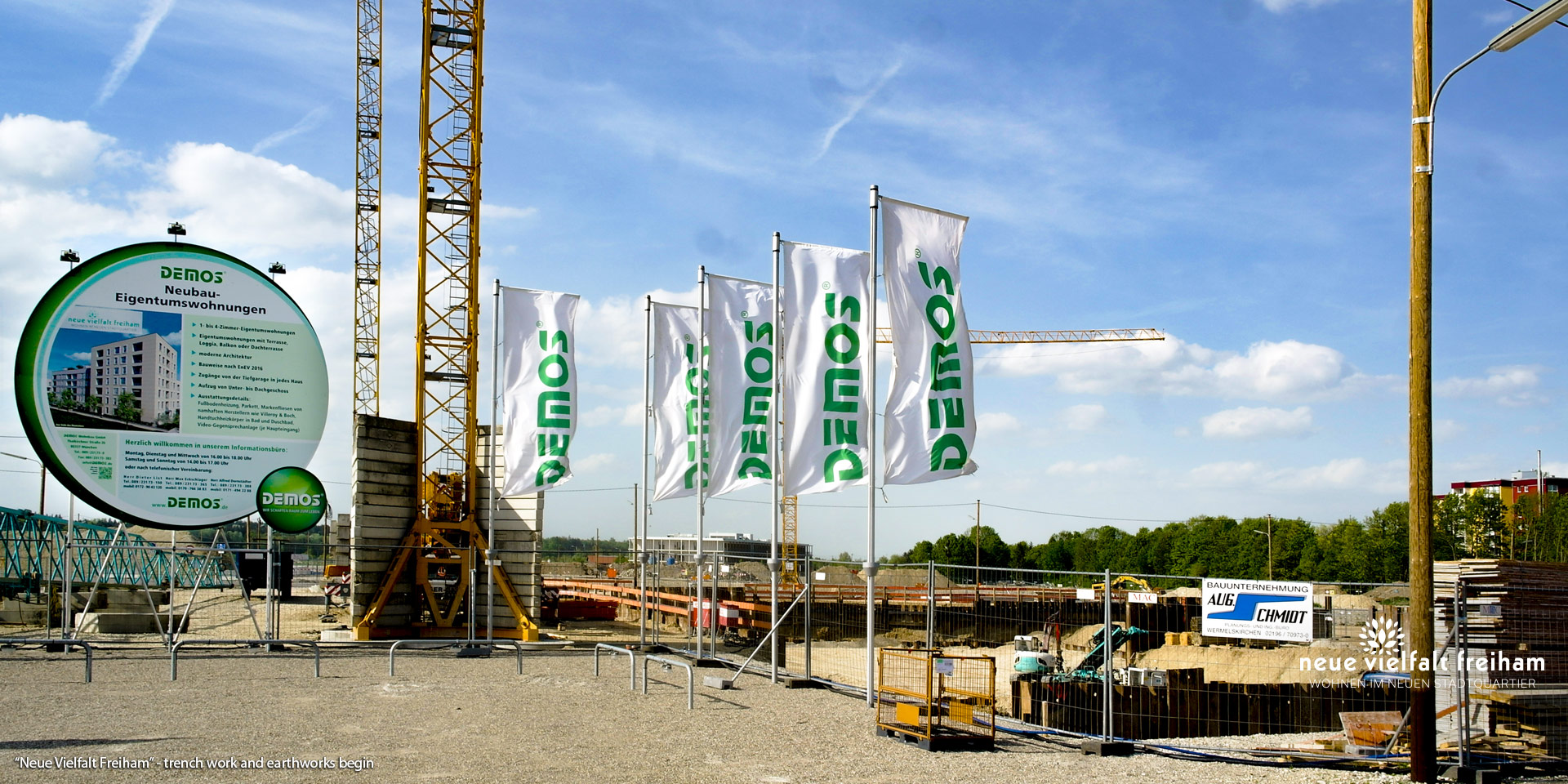 'Neue Vielfalt Freiham' in Munich-Freiham: Now the trench work and earthworks begin