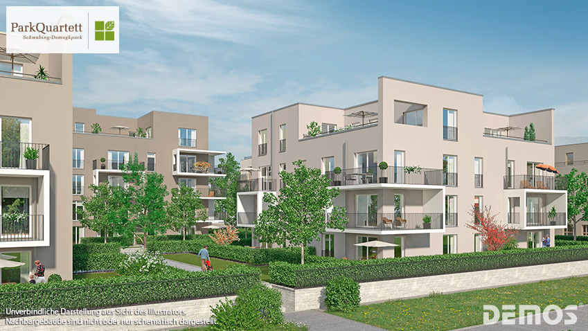 "Park Quartett Domagkpark: Verkaufsstart im ""neuen Schwabing!"""