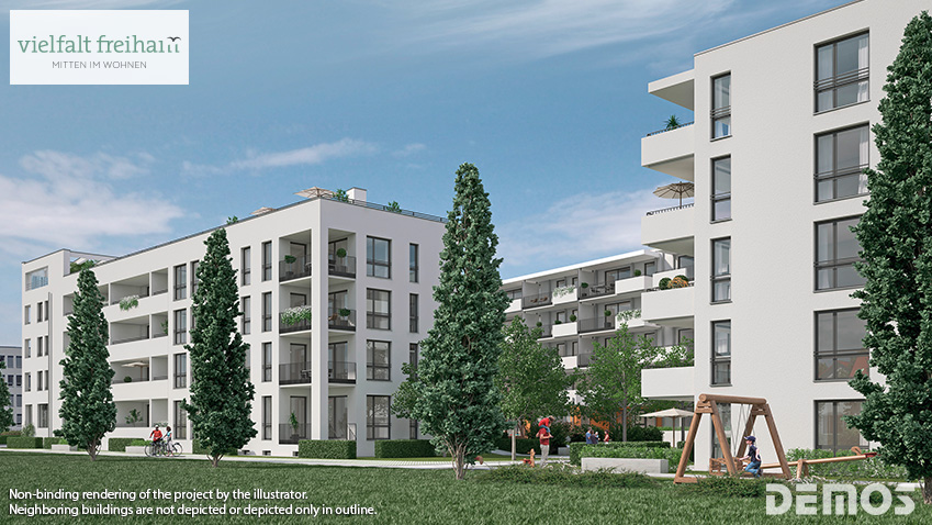 'vielfalt freiham': sales start for modern living in the new neighborhood!
