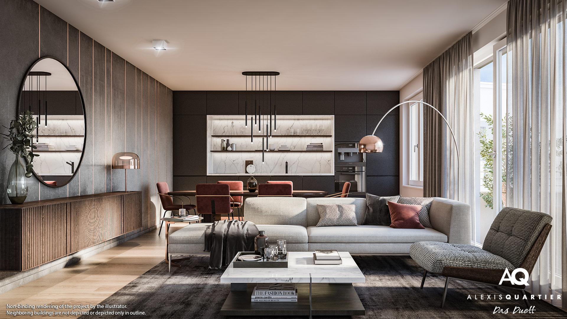 Condominiums Alexisquartier - Das Duett - Illustration 10