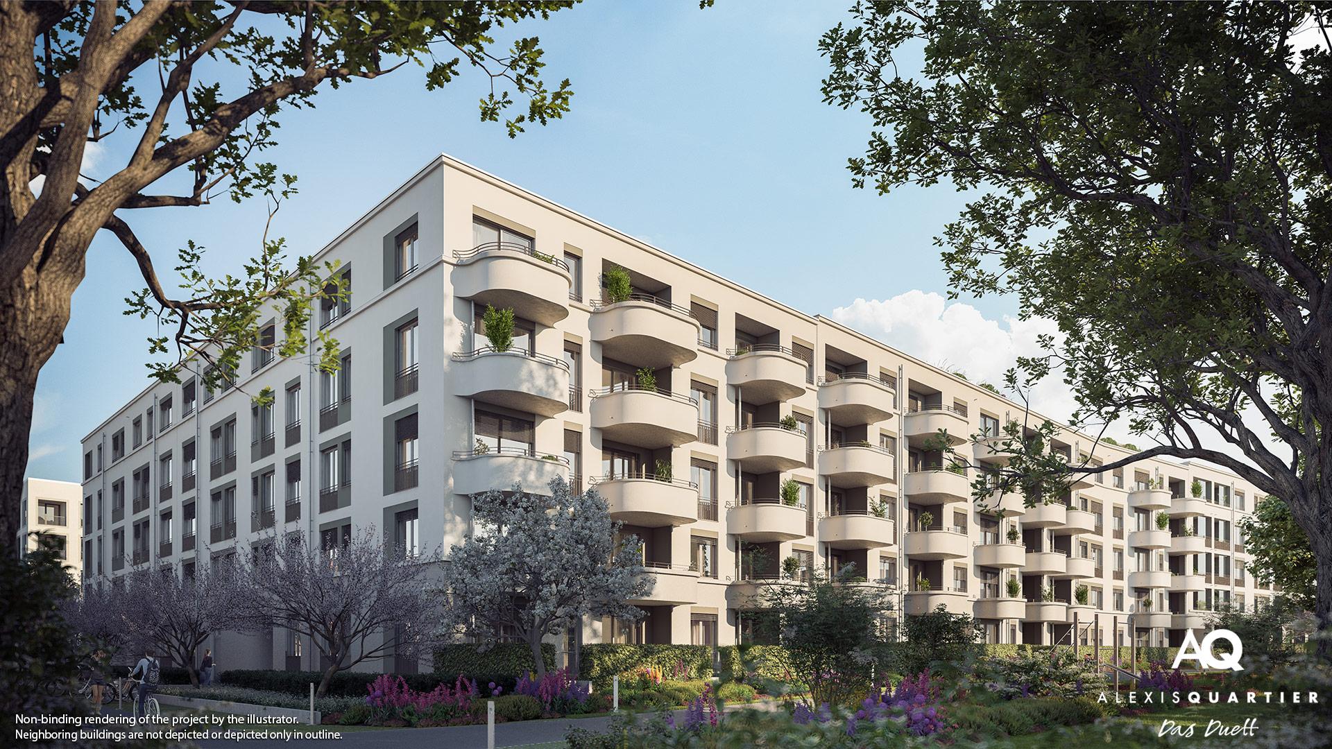 Condominiums Alexisquartier - Das Duett - Illustration 2