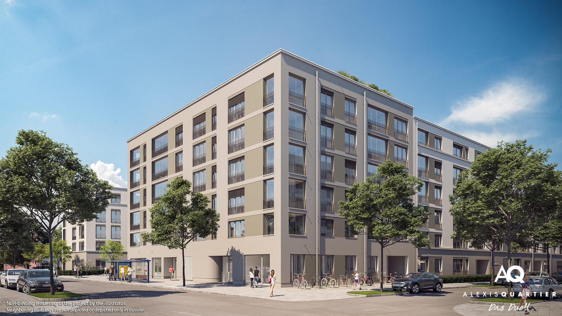 Condominiums Alexisquartier - Das Duett - Illustration 4