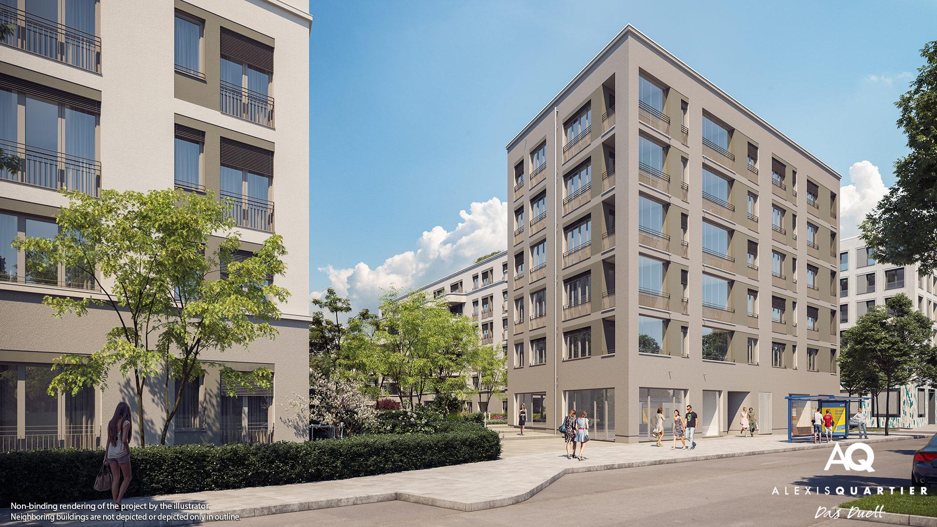 Condominiums Alexisquartier - Das Duett - Illustration 5
