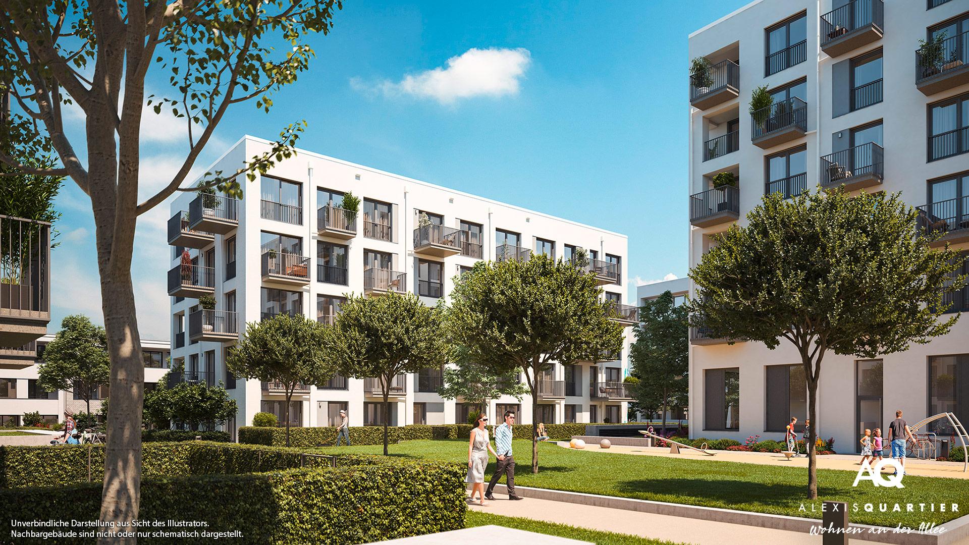 Immobilie Alexisquartier - Wohnen an der Allee - Illustration 1