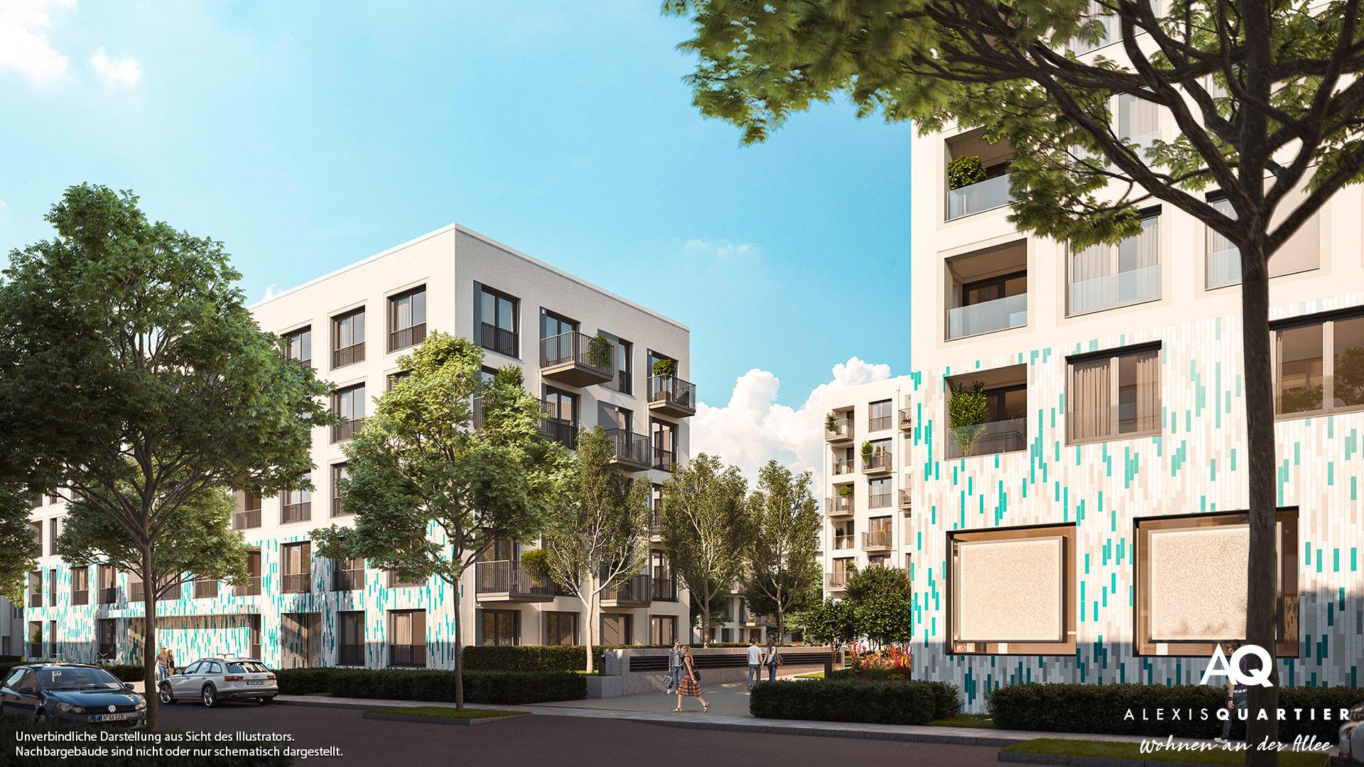 Immobilie Alexisquartier - Wohnen an der Allee - Illustration 2