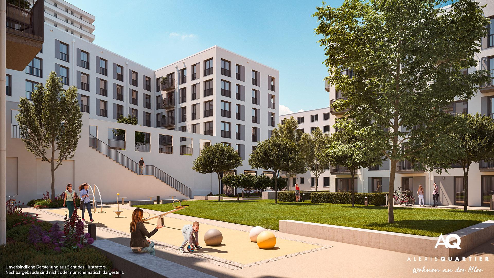 Immobilie Alexisquartier - Wohnen an der Allee - Illustration 5