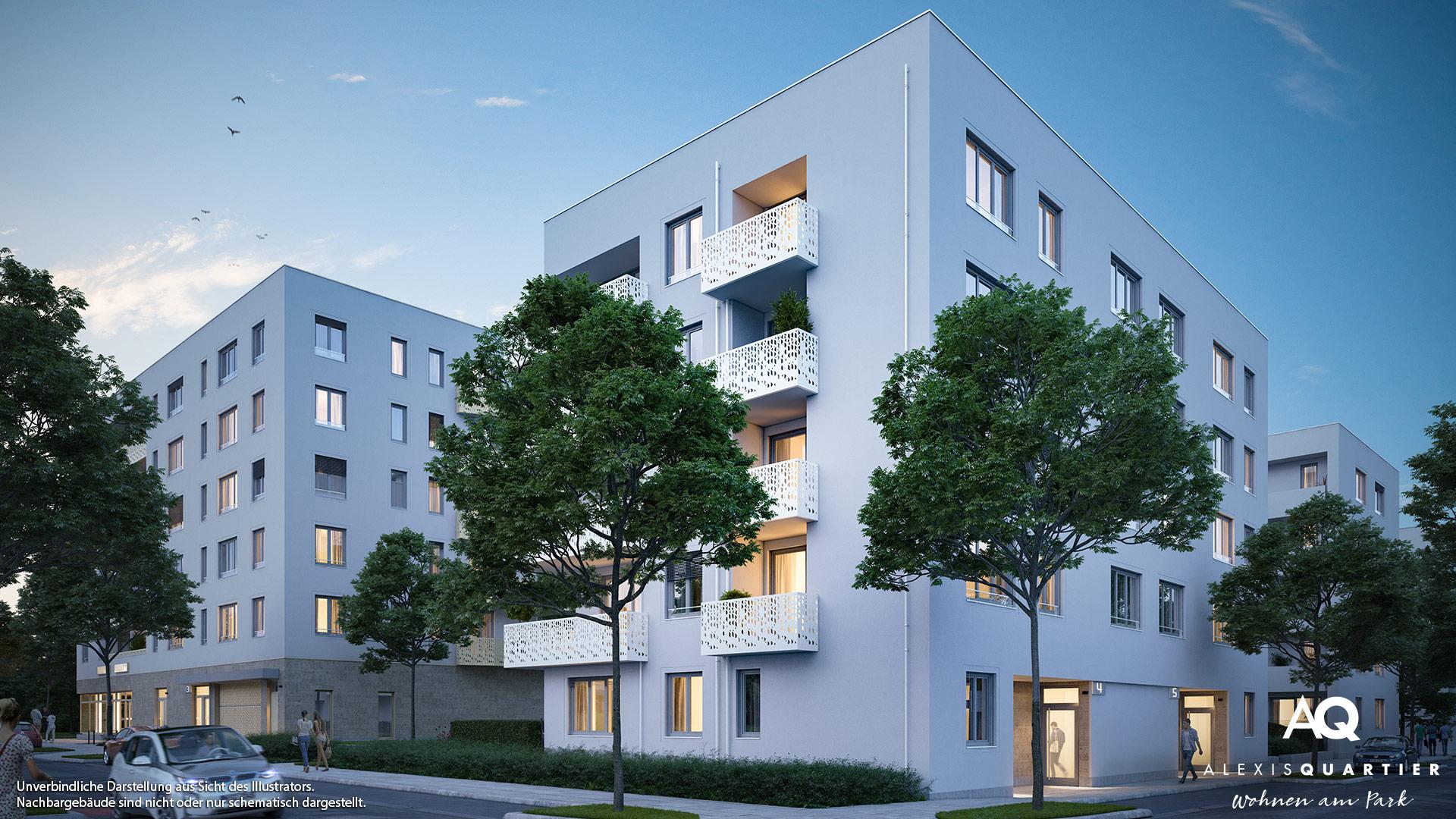 Immobilie Alexisquartier - Wohnen am Park - Gewerbeeinheiten - Illustration 2