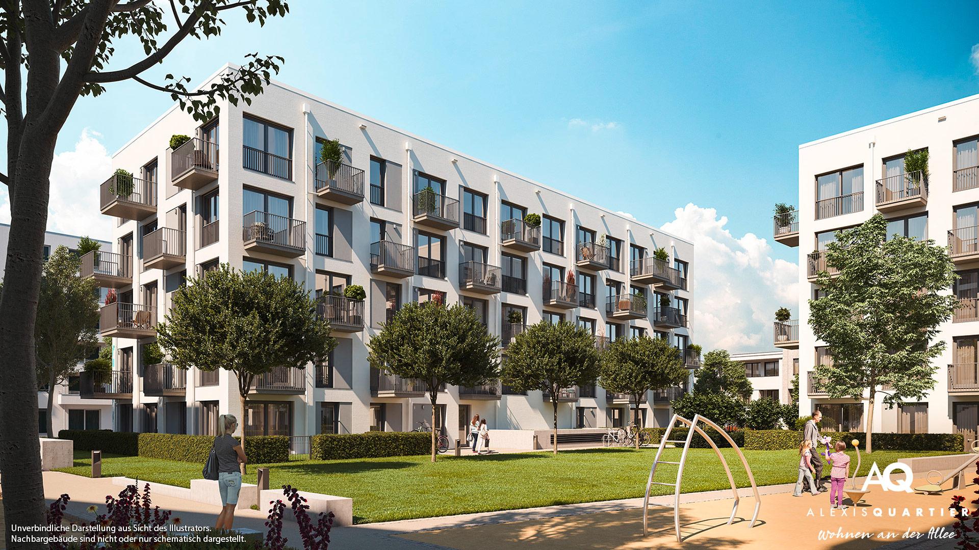Immobilie Alexisquartier - Wohnen an der Allee - Illustration 7
