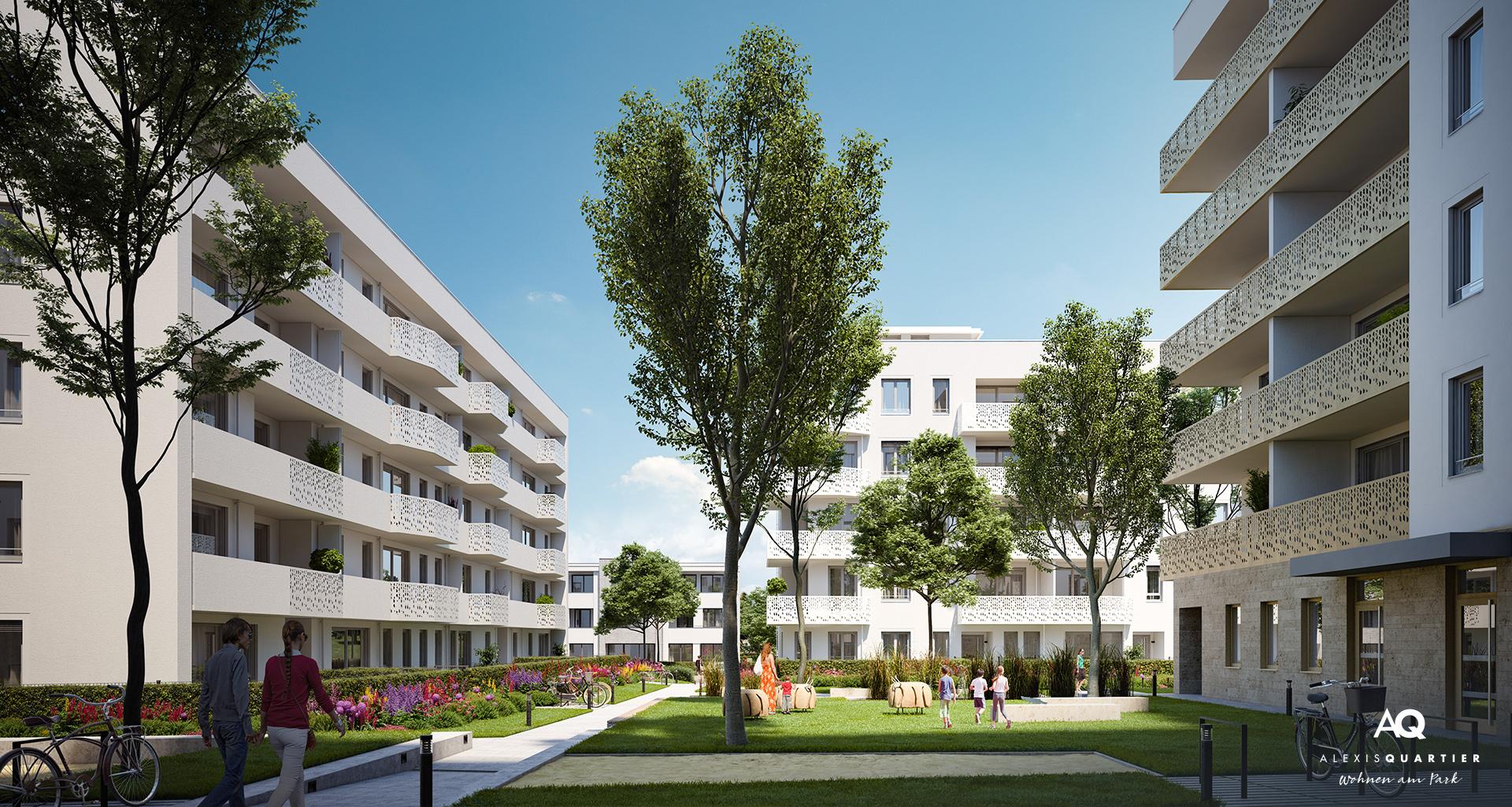 Gewerbeeinheiten München: Alexisquartier - Wohnen am Park