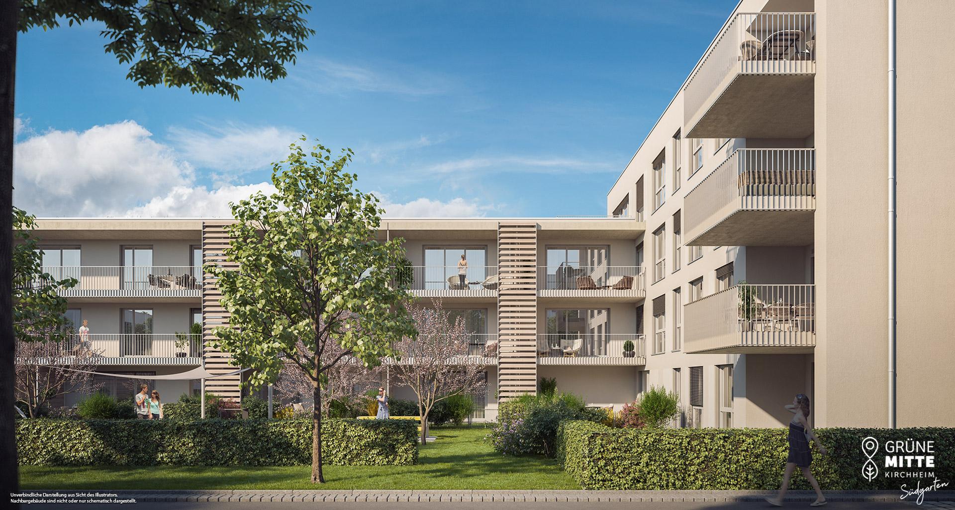 Condominiums Kirchheim bei munich: Grüne Mitte Kirchheim - Suedgarten
