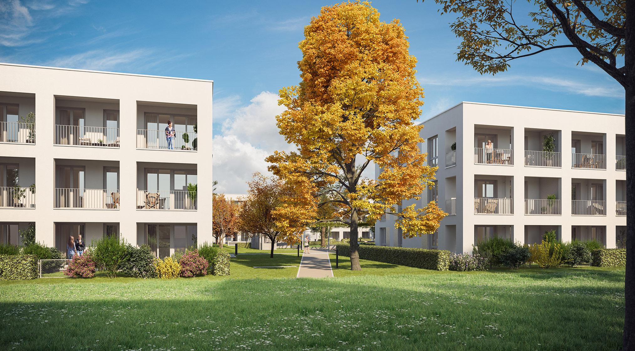 Eigentumswohnungen Kirchheim bei München: Grüne Mitte Kirchheim - Park-Carré - Projektdetails Illustration 3