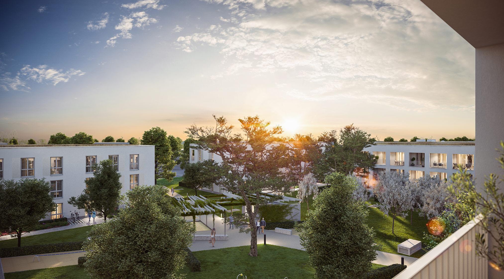 Eigentumswohnungen Kirchheim bei München: Grüne Mitte Kirchheim - Park-Carré - Projektdetails Illustration 2