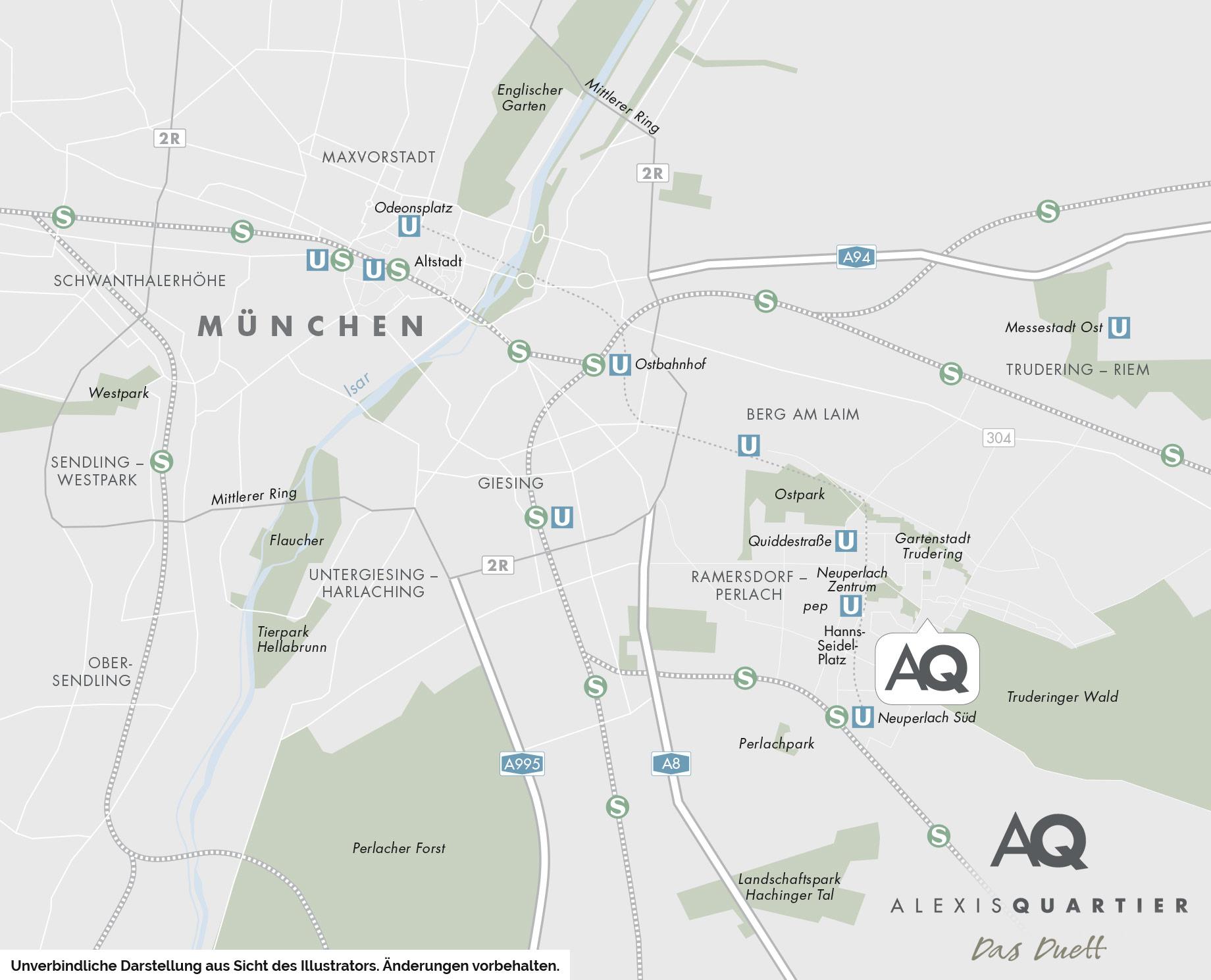 Immobilie Alexisquartier - Das Duett - Stadtplanausschnitt 1