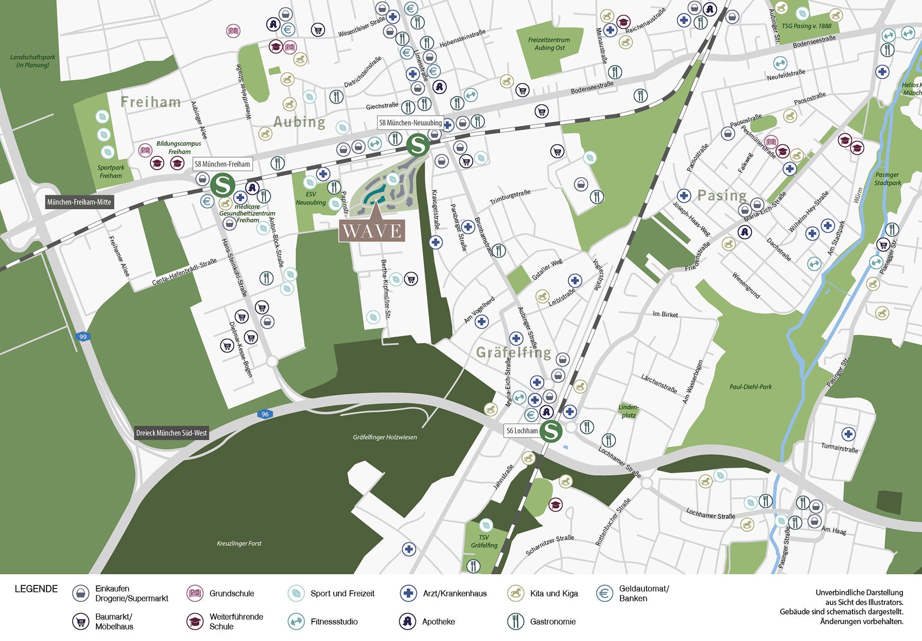 Immobilie WAVE - Stadtplanausschnitt