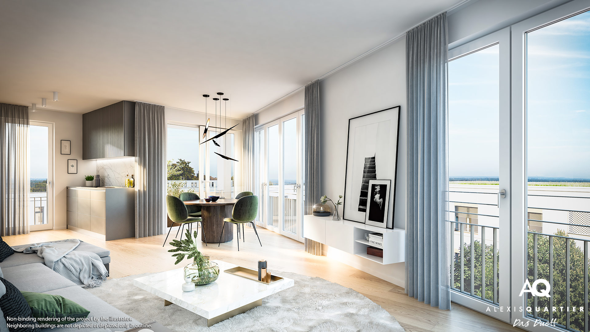 Condominiums Alexisquartier - Das Duett - Illustration 12