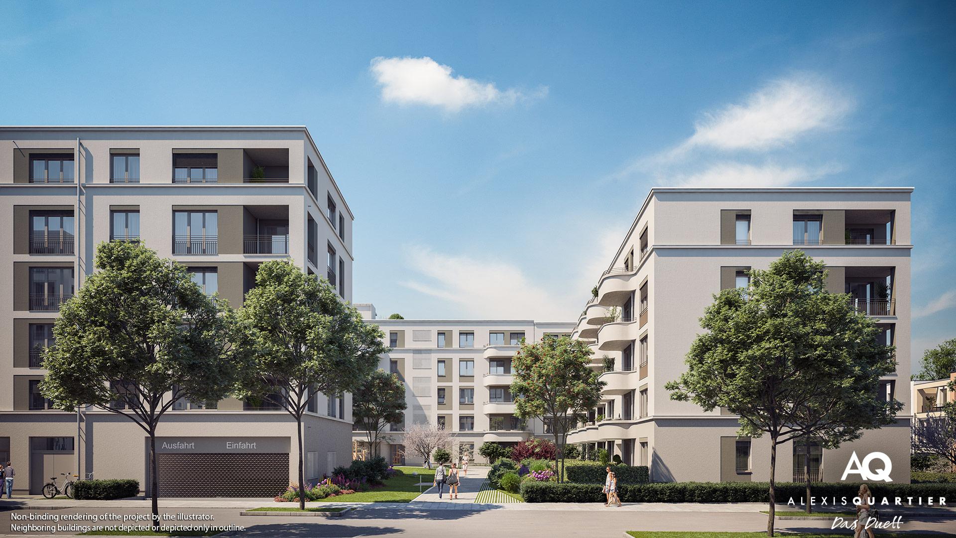 Condominiums Alexisquartier - Das Duett - Illustration 1